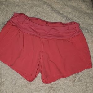 Women's Run Times Lululemon Pink Running Shorts
